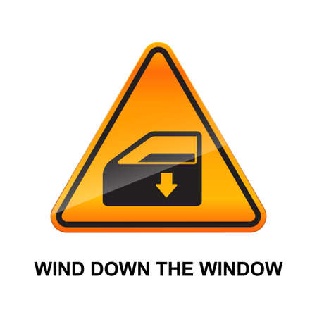 Wind down the window sign isolated on white background vector illustration.