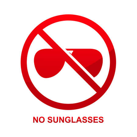No sunglasses sign isolated on white background vector illustration.  イラスト・ベクター素材