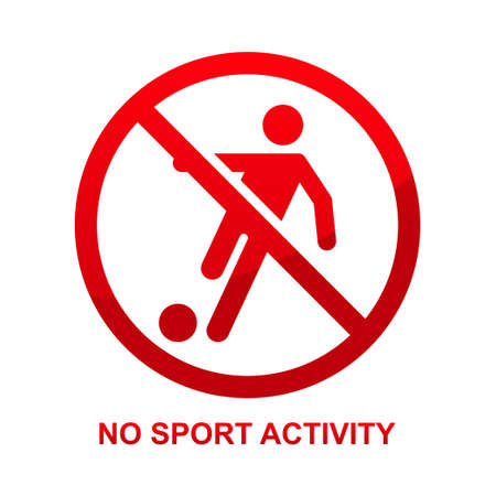 No sport activity sign isolated on white background vector illustration.