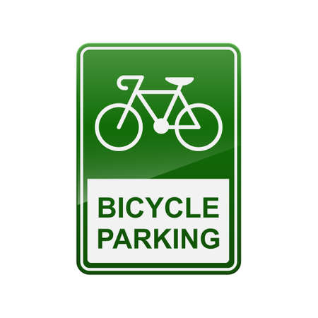 Bicycle parking sign isolated on background.  イラスト・ベクター素材
