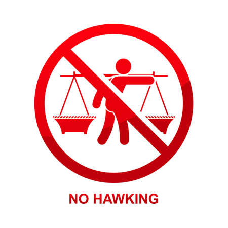 No hawking sign isolated on white background vector illustration. Illustration