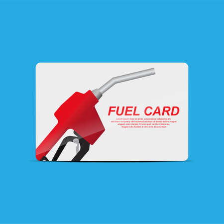 Fuel card concept isolated on background vector illustration.