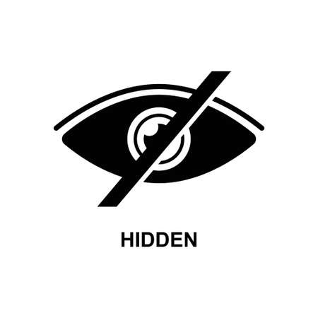 Hidden icon isolated on white background vector illustration.