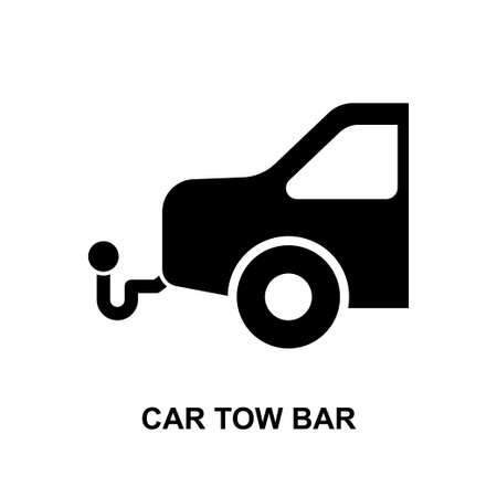 car tow bar icon isolated on white background vector illustration.