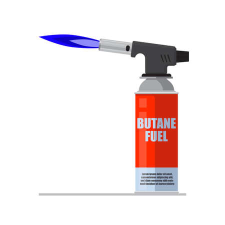 Blowtorch icon. Manual gas torch burner isolated on white background vector illustration.