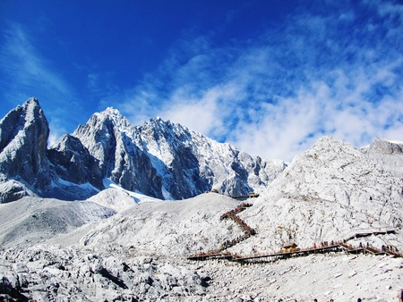 The most beautiful snow mountain in Yunan province