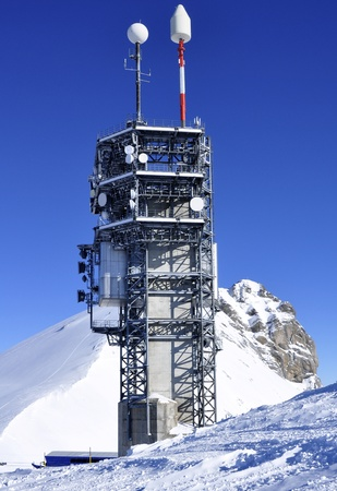 transducer: A tall observatory station on titlis, Luzern, Switzerland