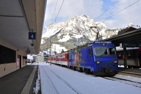 railway station in titlis of Luzern, Switzerland Editorial