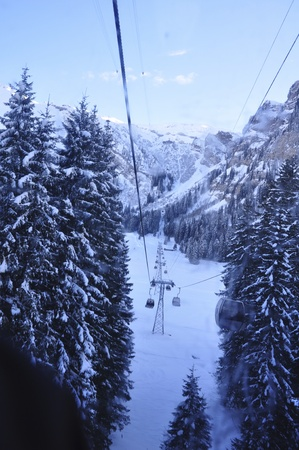 cable carts in titlis, Luzern, Switzerland photo