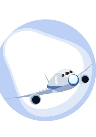 airplane take off: a simple vector of airplane Boeing 787 Illustration