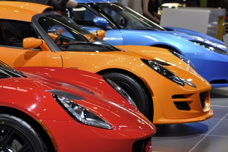 BEIJING - APRIL 29: LOTUS new serie  of sport cars at the 2012 Beijing International Automotive Exhibition (Auto China 2012) on April 29, 2012 in Beijing, China.