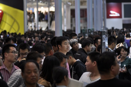 BEIJING - APRIL 29: Crowd people at the 2012 Beijing International Automotive Exhibition (Auto China 2012) on April 29, 2012 in Beijing, China. Stock Photo - 13538035