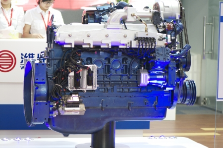 ngv: BEIJING - MAY 08  Natural Gas Vehicle and station exhibition hold on May 08, 2012 in Beijing, China