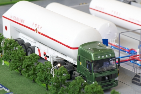 BEIJING - MAY 08  Natural Gas Vehicle and station exhibition hold on May 08, 2012 in Beijing, China