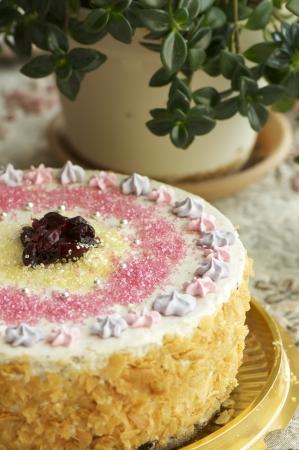 piggish: handmande filbert cake shot in a closeup scene