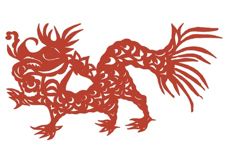 various lifelike Chinese Dragon paper cutting, all shapes can be used as symbol or tatoo Stock Vector - 16189436