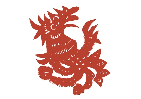 various lifelike Chinese Dragon paper cutting, all shapes can be used as symbol or tatoo Stock Vector - 16189473