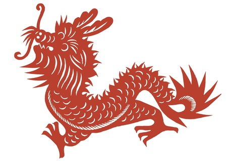 various lifelike Chinese Dragon paper cutting, all shapes can be used as symbol or tatoo Stock Vector - 16189445