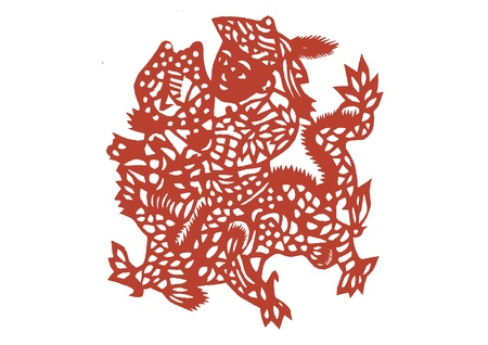 Vector of vaus lifelike Chinese Dragon paper cutting, all shapes can be used as symbol or tatoo Stock Vector - 16296779