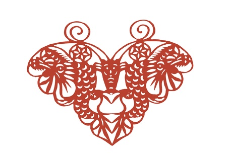 Vector of various lifelike Chinese Dragon paper cutting, all shapes can be used as symbol or tatoo Illustration