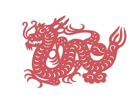 Vector of various lifelike Chinese Dragon paper cutting, all shapes can be used as symbol or tatoo