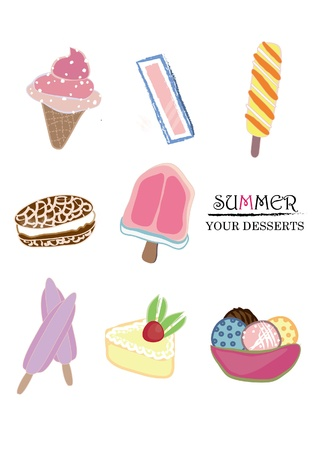 summer is coming, come to have some ice cream and desserts