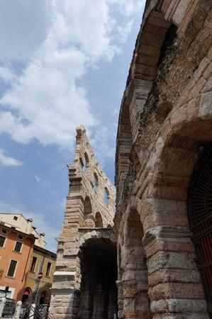 Colosseum in the city center fo Verona, one of the biggest roman colosseum in the world.