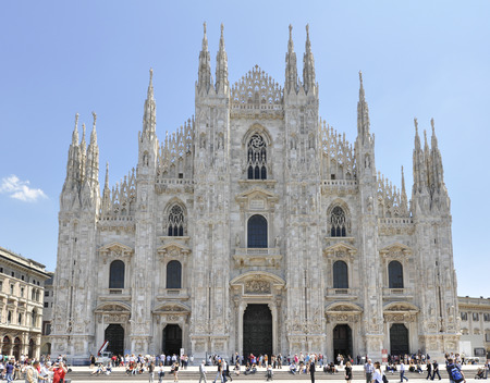 Milano Duomo, one of the biggest Gothic style church in the world. Editorial