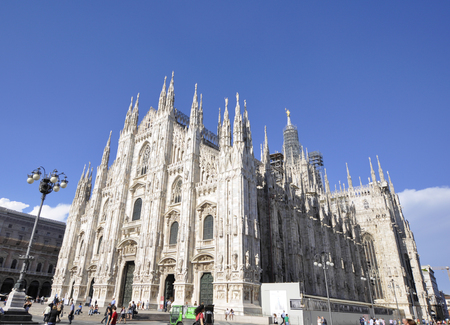 Milano Duomo, one of the biggest Gothic style church in the world. Stock Photo