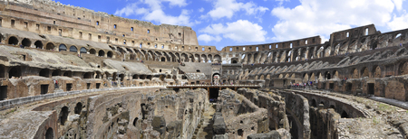 Colosseum and rome ruins, Rome, Italy