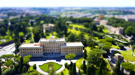 Panorama view of Vatican city, seeing from top of St. Peter Church Editorial