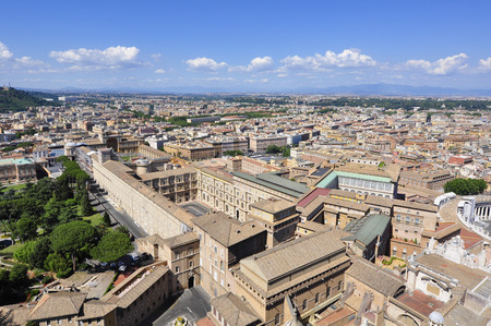 Panorama View of Rome Italy