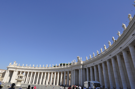 External of St. Peters Basilica square, Rome Italy
