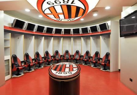 El estadio Milan San Siro en una lente gran angular, uno de los estadios de fútbol más famosos del mundo.