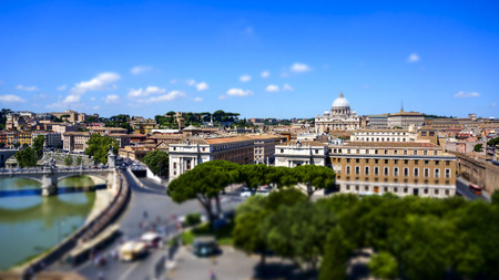 St. Peters Basilica square and Rome city, Rome Italy Stock Photo