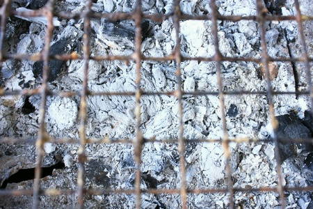 steel: Ash charcoal barbecue grill Stock Photo