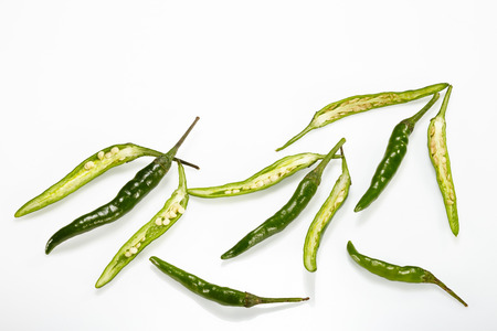 green chilli: Green Chilli pepper isolated on white background