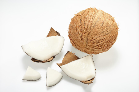 thai dessert: Coconut isolated on white Background