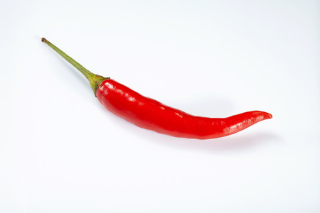Hot red chilli or chillipepper isolated on white background