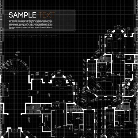 Abstract vector illustratie in zwarte kleur Stock Illustratie
