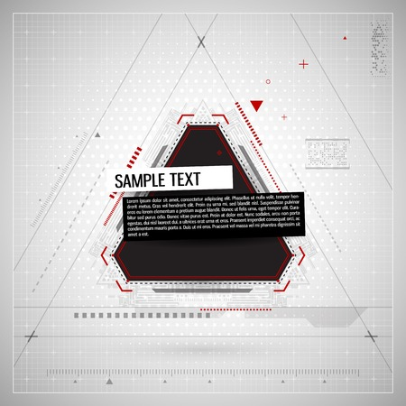 Abstract technological background. Vector illustration. Vector