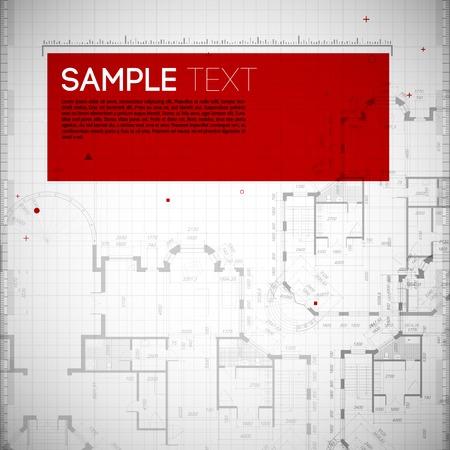arquitecto: Resumen ilustraci�n vectorial de color gris