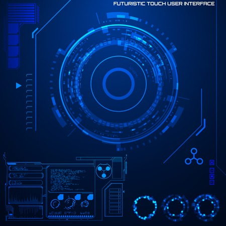 touch screen interface: Futuristic graphic user interface