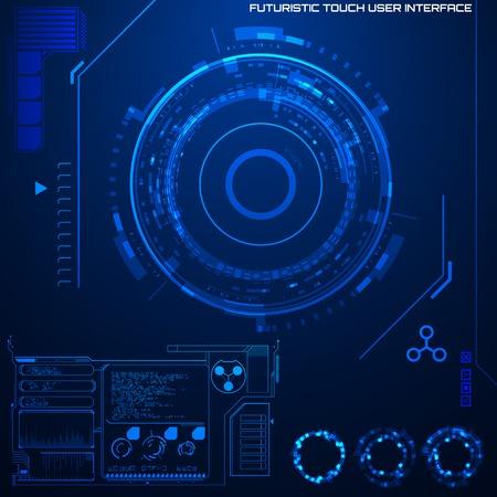 futuristico: Futuristic interfaccia utente grafica Vettoriali