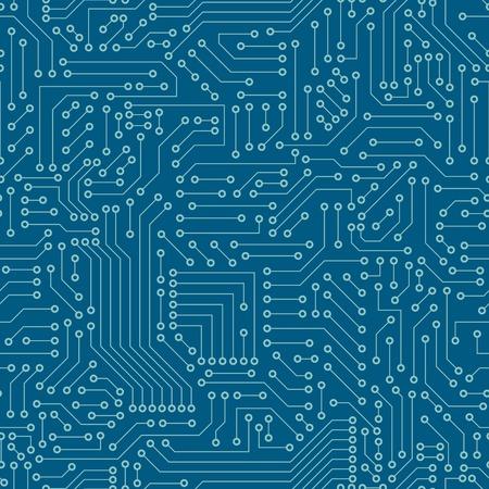 Naadloos patroon Computer circuit board