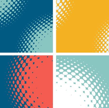 Set van gestippelde abstracte vormen