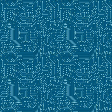 electronic circuit board: Seamless pattern  Computer circuit board