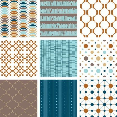 retro patterns: seamless retro patterns collection
