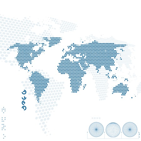 virtual world: World map. Abstract background.
