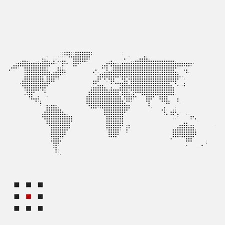 Dotted world map Illustration